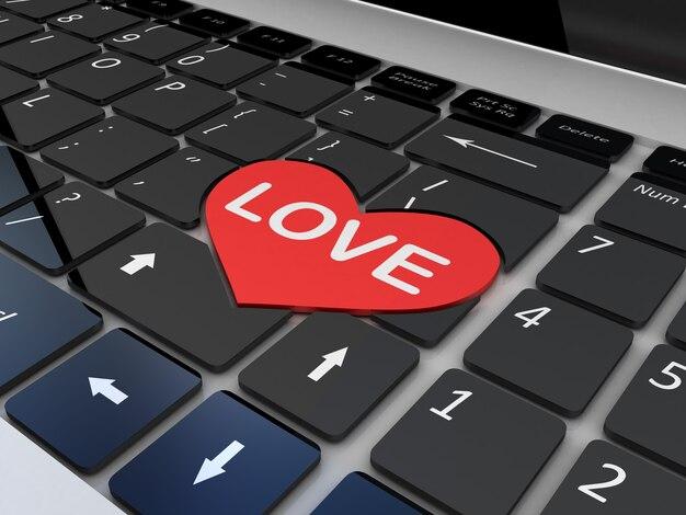 Teclado amor preto