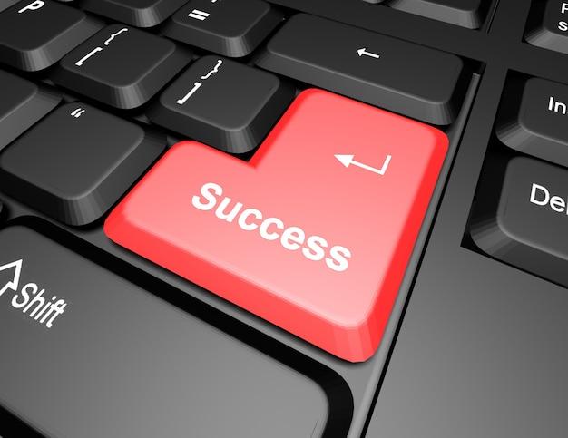 Teclado com botão de sucesso
