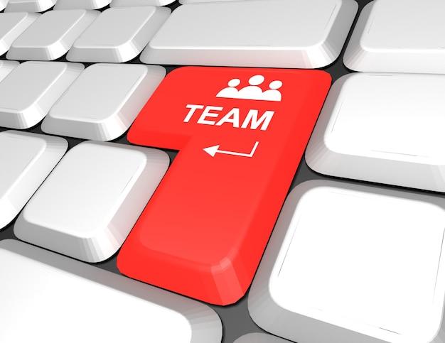 Teclado . conceito de construção de equipe