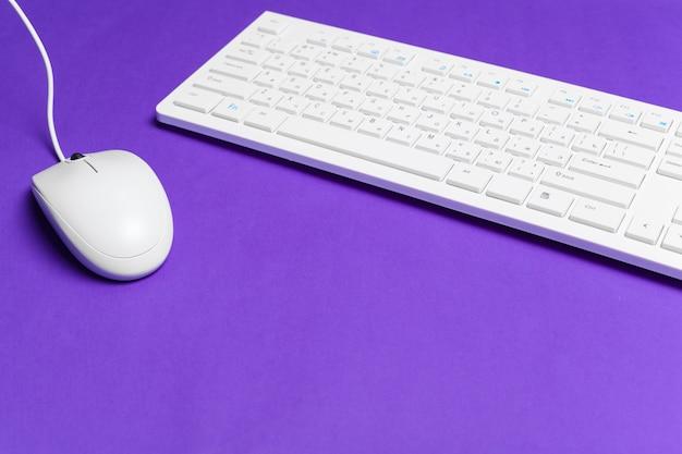Teclado e mouse de computador