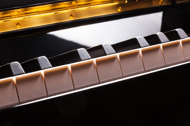 Teclas de piano. show. música.