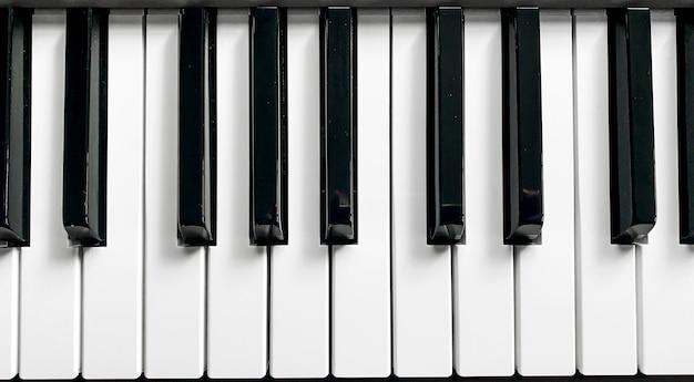 Teclas de sintetizador de piano