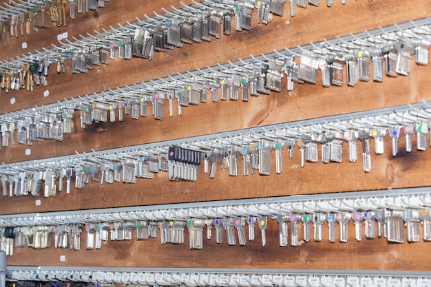 Teclas do painel para um chaveiro