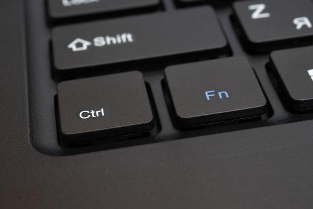 Teclas pretas de um teclado de computador.