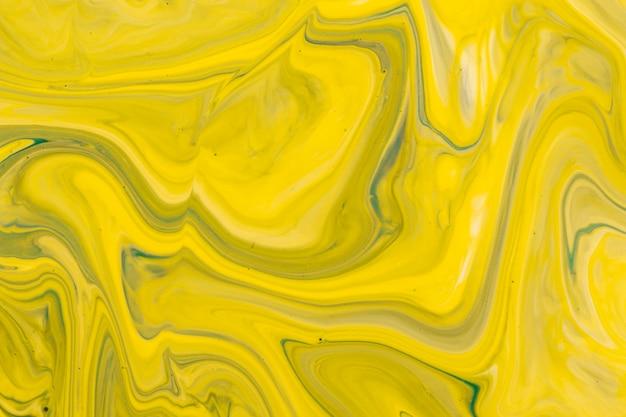 Técnica de drenagem amarela em design acrílico