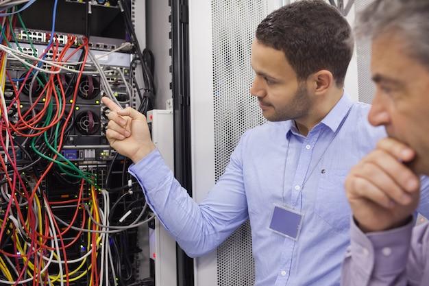 Técnicos de fixação de fios