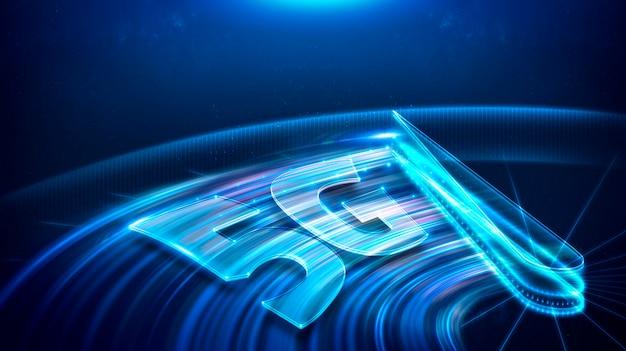 Tecnologia 5g, tecnologia de velocidade, conceito de rede de comunicação.