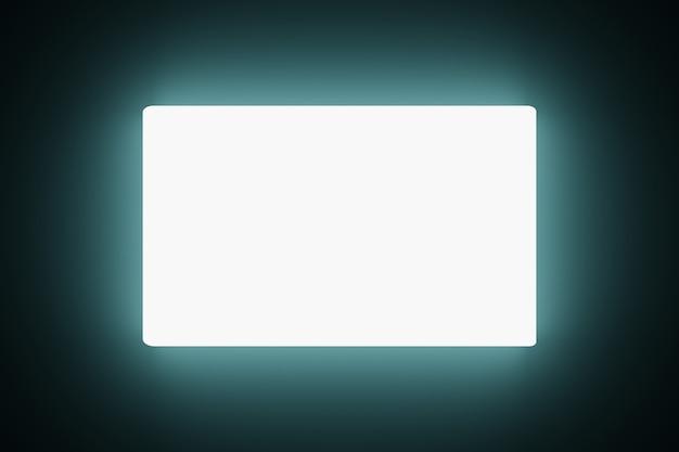 Tecnologia abstrata brilhando em branco telas led fundo de animação renderização 3d