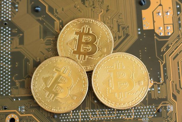 Tecnologia blockchain, conceito de mineração de bitcoin.