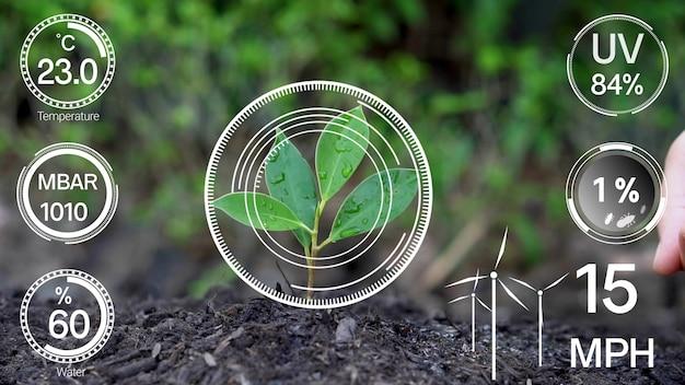 Tecnologia de agricultura digital inteligente por coleta futurística de dados de sensores