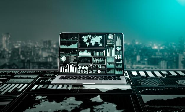 Tecnologia de big data para finanças empresariais.