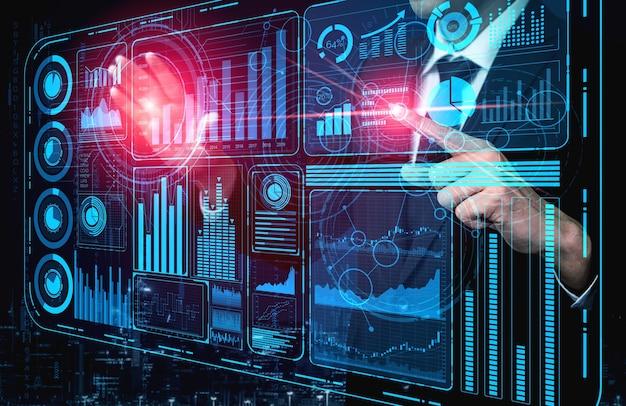 Tecnologia de big data para o conceito de finanças empresariais.