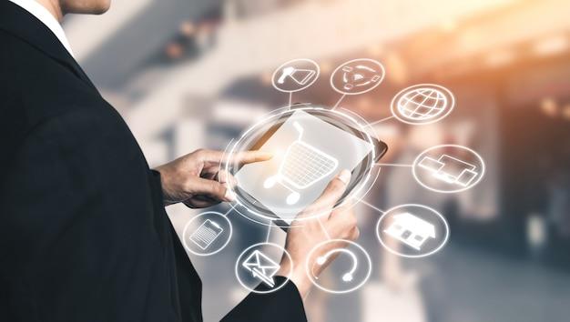 Tecnologia de canal omni do negócio de varejo online.