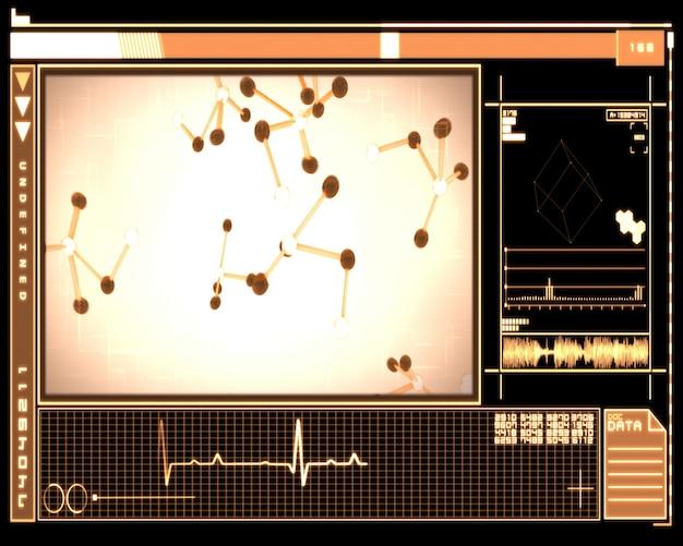 Tecnologia de células de moléculas de laranja