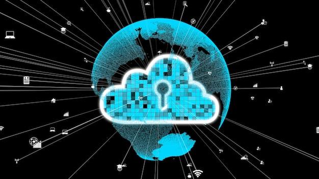 Tecnologia de computação em nuvem e armazenamento de dados para inovação futura