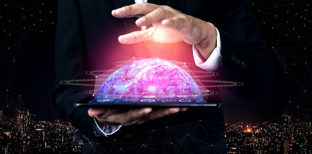 Tecnologia de comunicação 5g da rede internet
