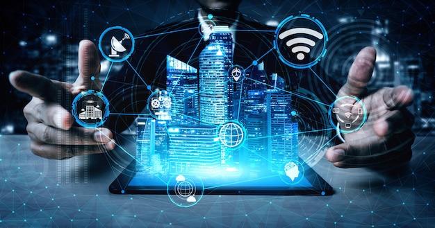 Tecnologia de comunicação 5g de rede de internet
