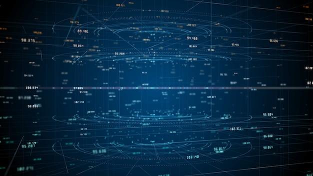 Tecnologia de conexão de dados de rede, rede digital e conceito de segurança cibernética