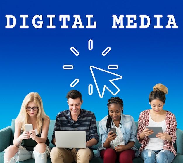 Tecnologia de conexão de mídia digital com a internet