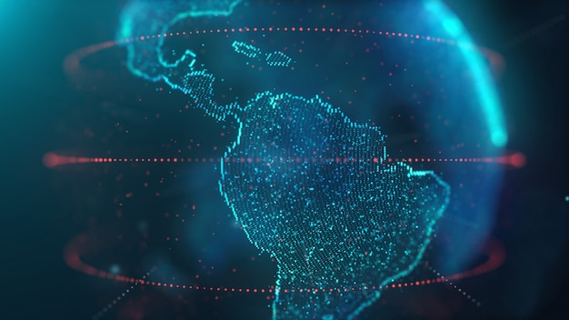 Tecnologia de dados do mapa mundial