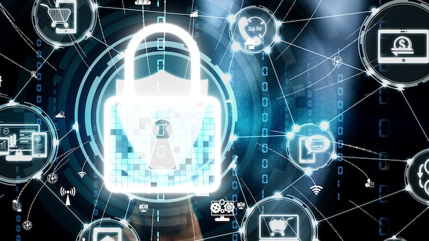 Tecnologia de digitalização digital biométrica de impressão digital conceitual