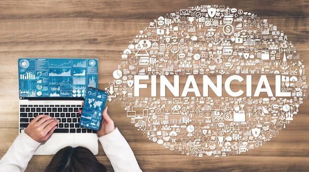 Tecnologia de finanças e transações monetárias
