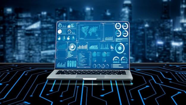 Tecnologia de inteligência de negócios e mídia mista analítica de big data