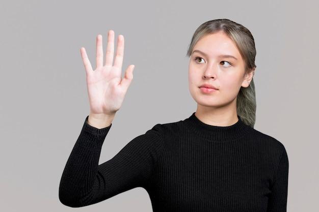 Tecnologia de segurança biométrica de gesto de digitalização da palma