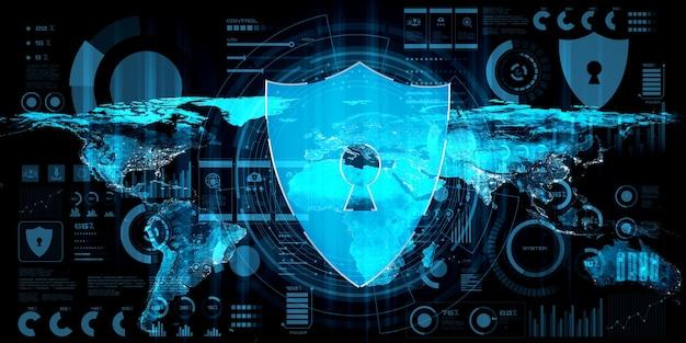 Tecnologia de segurança cibernética e proteção de dados online em uma percepção inovadora