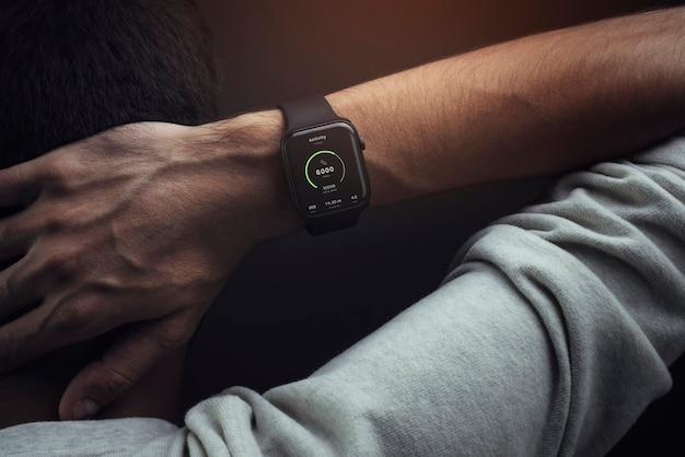 Tecnologia de smartwatch pulseira esportiva de rastreador de fitness