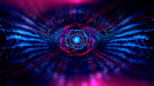 Tecnologia geométrica e científica e tecnologia de blockchain digital futurista.