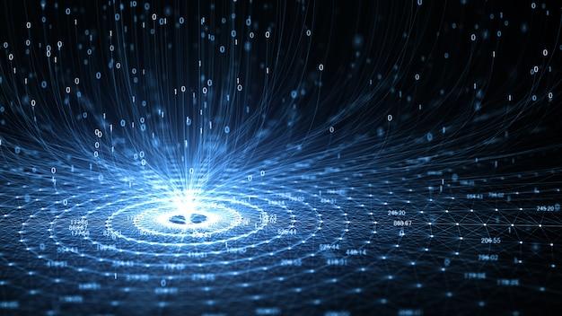 Tecnologia inteligência artificial (ia) e internet das coisas iot conceito.
