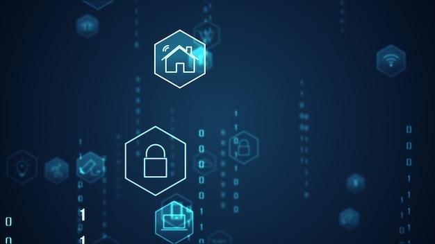 Tecnologia internet das coisas (iot) e conceito de rede.