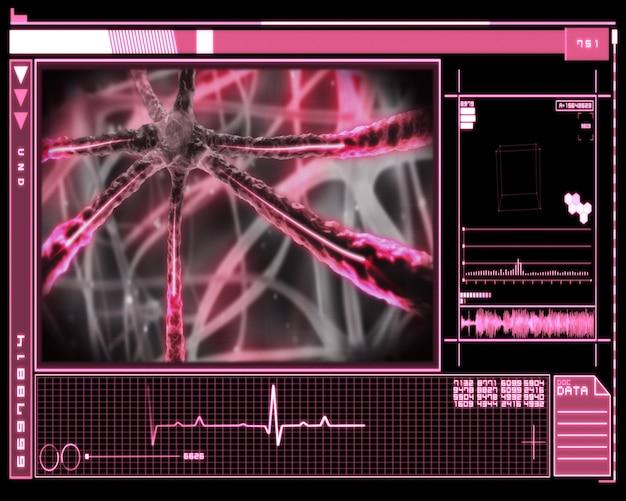 Tecnologia microscópica rosa