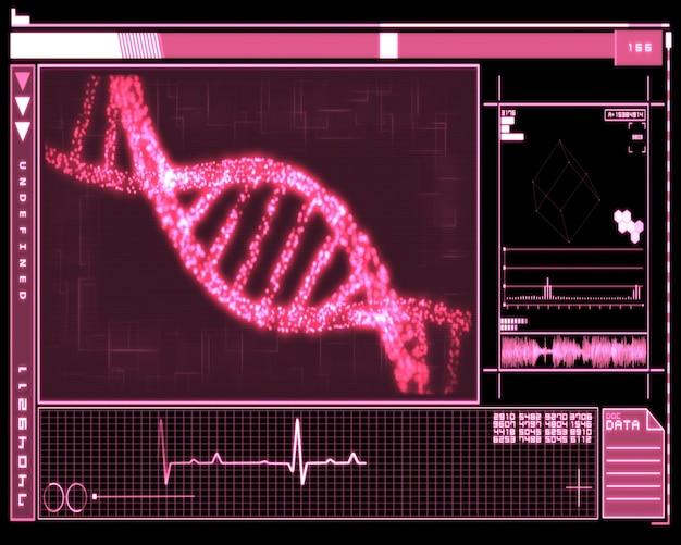 Tecnologia pink dna helix