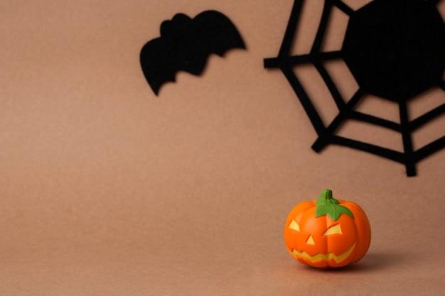 Teia de aranha e morcego para o halloween