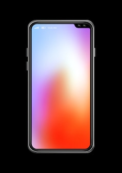 Tela colorida smartphone isolado. renderização em 3d