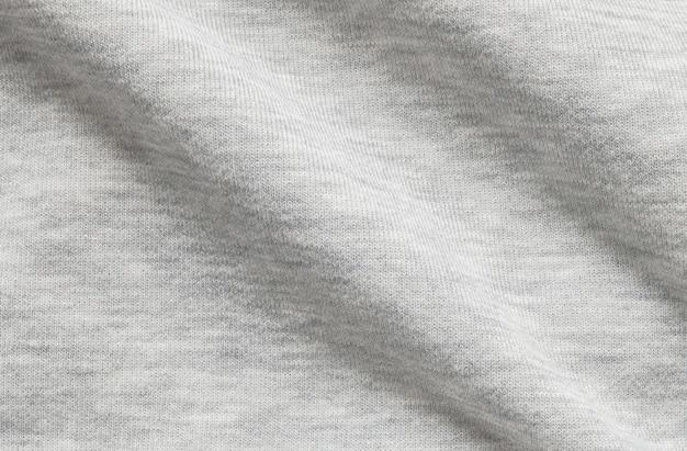 Tela de jaqueta cinza enrugada closeup