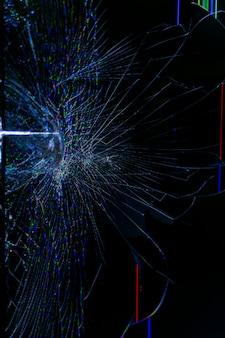 Tela de lcd da tv quebrada. fundo abstrato