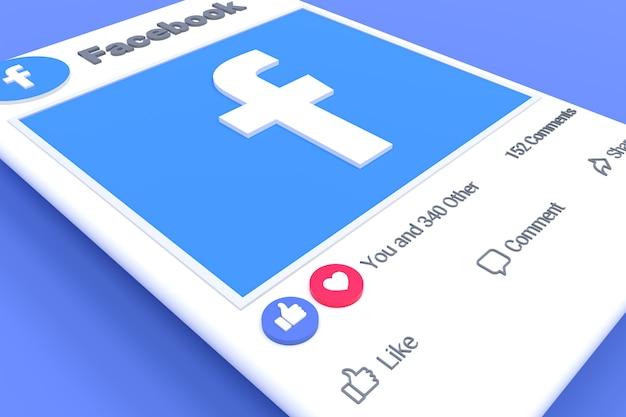 Tela de postagem no facebook e reações