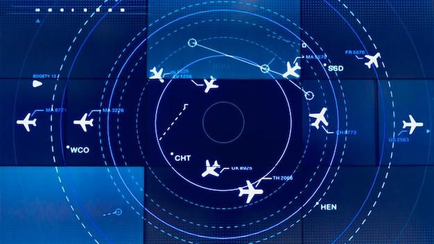 Tela de simulação mostrando vários vôos para transporte e passageiros.