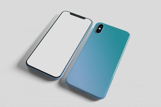Tela de smartphone e caso - renderização em 3d