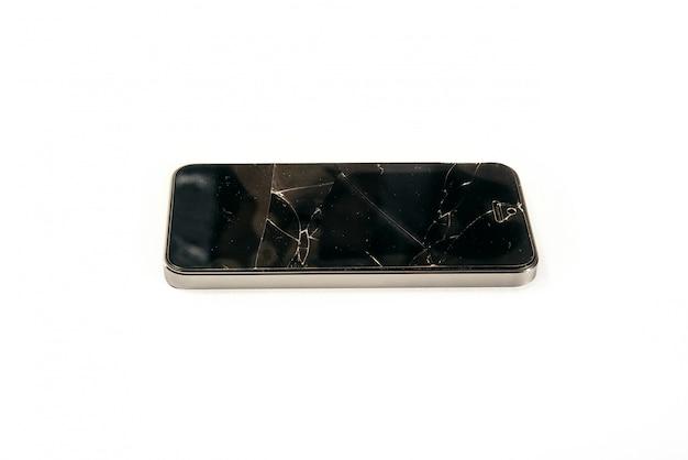 Tela de vidro quebrado do telefone móvel