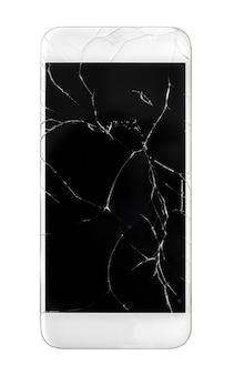 Tela do celular quebrada