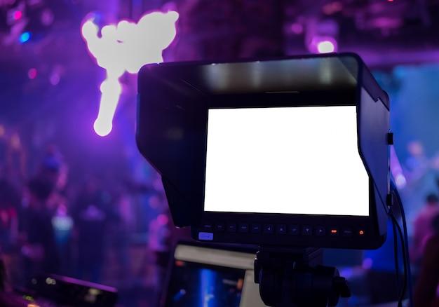 Tela em branco do visor da câmera