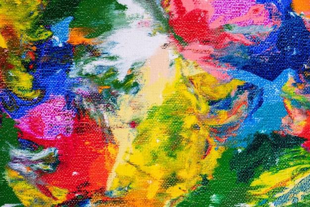 Tela pintada em uma paleta