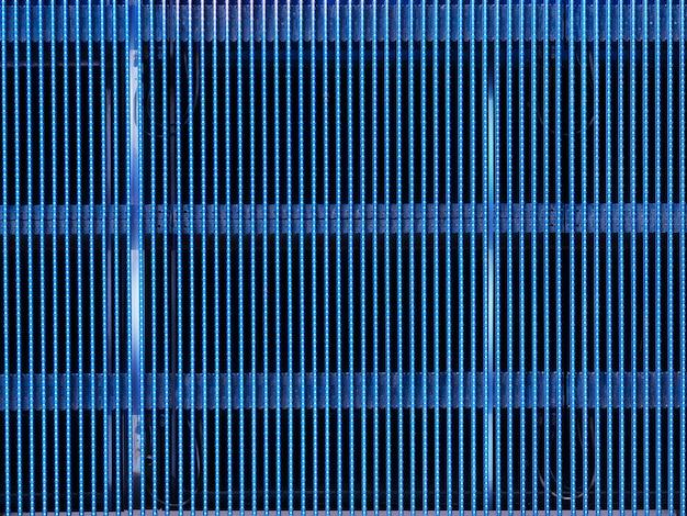 Tela vazia com fundo de lâmpadas de leds azuis