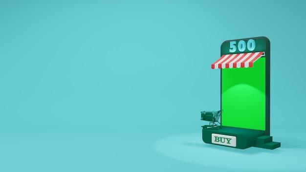 Tela verde do telefone móvel