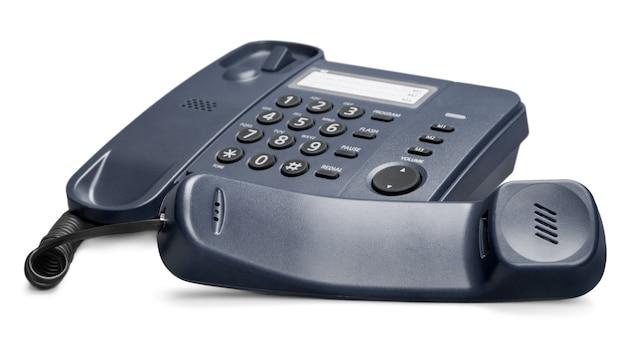 Telefone antigo em segundo plano