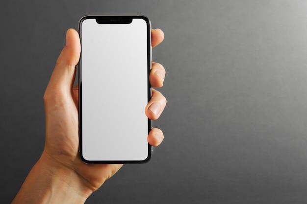 Telefone celular tablet na mão